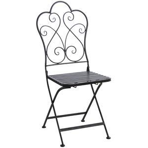 Photo MCT1220 : Chaise de terrasse pliante en métal vieilli
