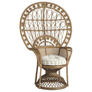 Photo MFA2490C : Rattan peacock armchair