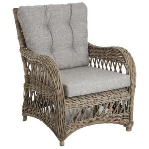 Photo MFA2590C : Fauteuil en poelet gris