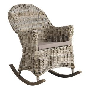 Photo MRO1130C : Rocking-chair en poelet gris