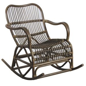 Photo MRO1150 : Rocking-chair en rotin gris