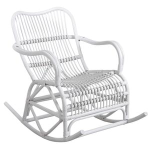 Photo MRO1160 : Rocking-chair en rotin laqué blanc