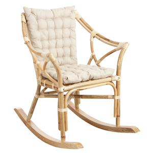 Photo MRO1180C : Rocking-chair en rotin naturel