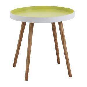 Photo MTB1290 : Table d'appoint ronde en bois et MDF laqué anis
