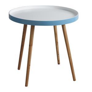 Photo MTB1300 : Table d'appoint en bois et MDF laqué bleu