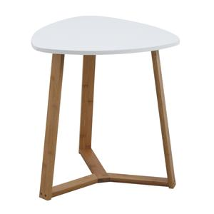 Photo MTB1310 : Table d'appoint en bois et MDF laqué blanc
