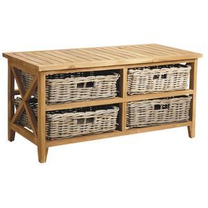 Photo MTB1350 : Table basse en teck et poelet