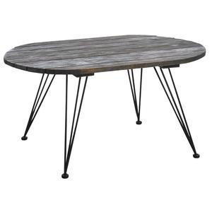 Photo MTB1430 : Table basse Mississippi en bois teinté et métal