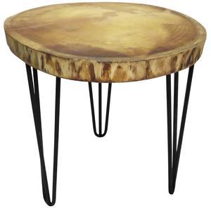 Photo MTB1570 : Table ronde en bois et métal