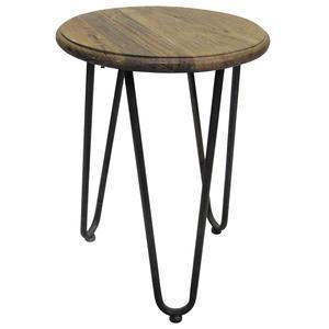 Photo MTB1580 : Table ronde en bois et métal