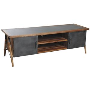 Photo MTV1110 : Solid suar wood and metal TV stand Alice