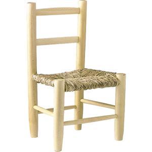 Photo NCE1020 : Chaise enfant en hêtre naturel blanchi