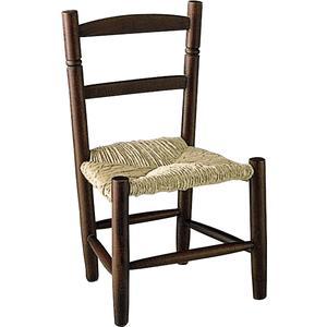 Photo NCE1050 : Chaise enfant en hêtre teinté marron