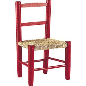 Photo NCE1070 : Chaise enfant en hêtre teinté rouge