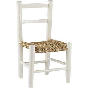 Photo NCE1080 : Chaise enfant en hêtre laqué blanc