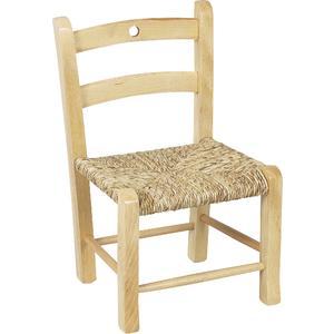 Photo NCE1100 : Chaise enfant en hêtre naturel blanchi
