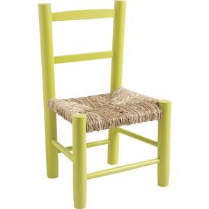 Photo NCE1200 : Chaise enfant en hêtre laqué anis