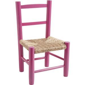 Photo NCE1210 : Chaise enfant en hêtre laqué framboise
