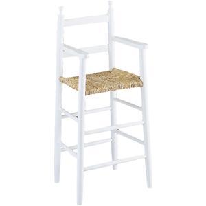 Photo NCH1040 : Chaise haute en hêtre laqué blanc