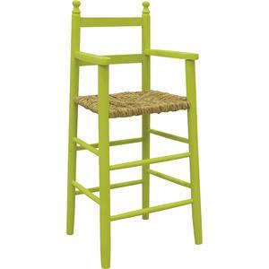 Photo NCH1100 : Chaise haute en hêtre laqué anis