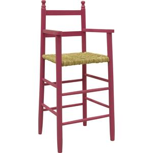 Photo NCH1110 : Pink lacquered beechwood highchair
