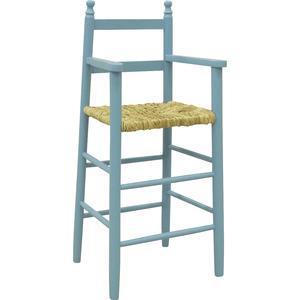 Photo NCH1120 : Chaise haute en hêtre laqué bleu ciel