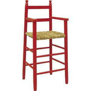 Photo NCH1130 : Chaise haute en hêtre laqué rouge