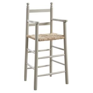 Photo NCH1140 : Chaise haute en hêtre laqué gris
