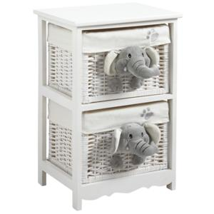 Photo NCM2000C : Wood and willow children's chest elephant