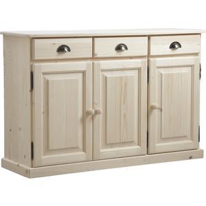 Photo NCM2650 : Bahut en bois brut 3 portes 3 tiroirs