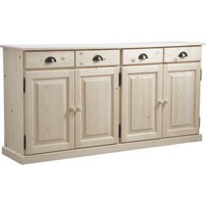 Photo NCM2740 : Raw wood sideboard 4 doors 4 drawers