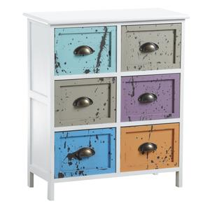 Photo NCM2870 : Commode 6 tiroirs multicolores