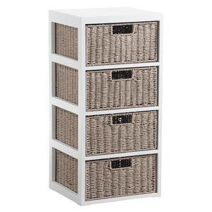 Photo NCM3010 : Commode 4 tiroirs en bois et papier cordé