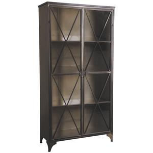 Photo NCM3160V : Metal and glass cupboard