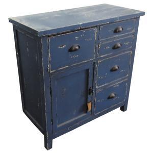 Photo NCM3280 : Commode en bois bleu antique