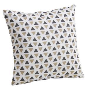 Photo NCO2080 : Housse de coussin triangles en coton