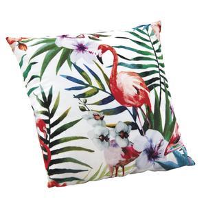 Photo NCO2270 : Cushion with pink flamingo and leaf design