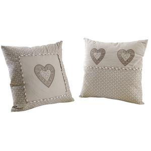 Photo NCO2290 : Square cushion with heart and dots designs