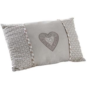 Photo NCO2310 : Rectangular cushion with heart and dots designs