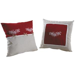 Photo NCO2350 : Cotton and linen Edelweiss cushion