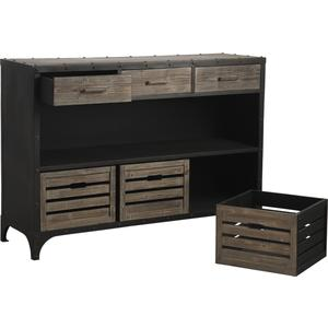 Photo NCS1120 : Metal and wood console table