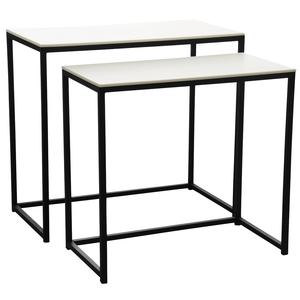 Photo NCS116S : Wood and metal console tables
