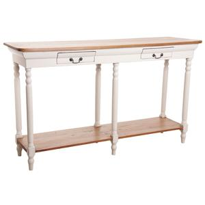 Photo NCS1250 : Console en acajou blanc antique