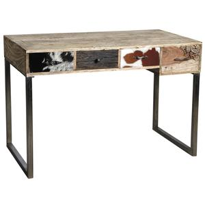 Photo NCS1320C : Mango and cow skin desk