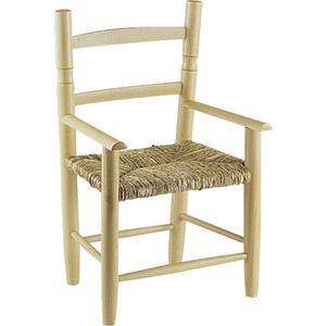 Photo NFE1240 : Chaise enfant en hêtre naturel blanchi