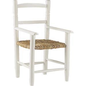 Photo NFE1260 : Chaise enfant en hêtre laqué blanc
