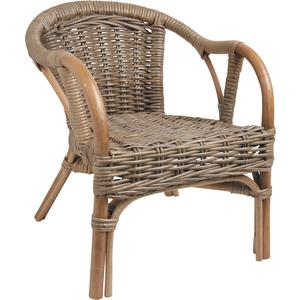 Photo NFE1360 : Grey pulut rattan children's armchair