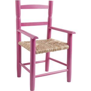Photo NFE1380 : Chaise enfant en hêtre laqué framboise