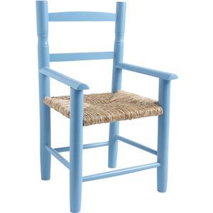 Photo NFE1390 : Chaise enfant en hêtre laqué bleu ciel