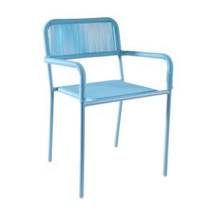 Photo NFE1450 : Chaise enfant en polyrésine et métal laqué bleue